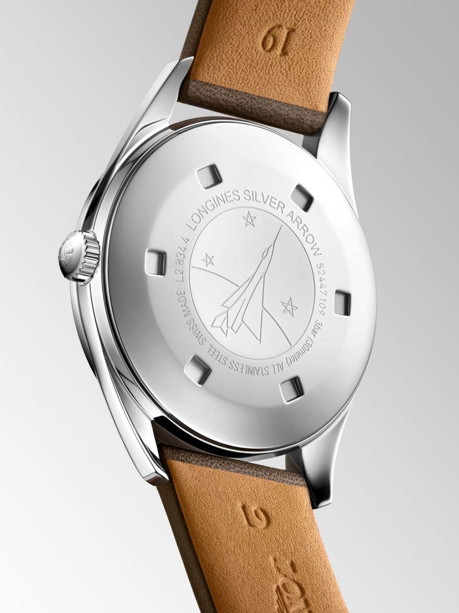 longines heritage classic silver arrow horloge l28344722 3