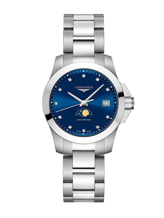 longines conquestmoonphase horloge l33814976