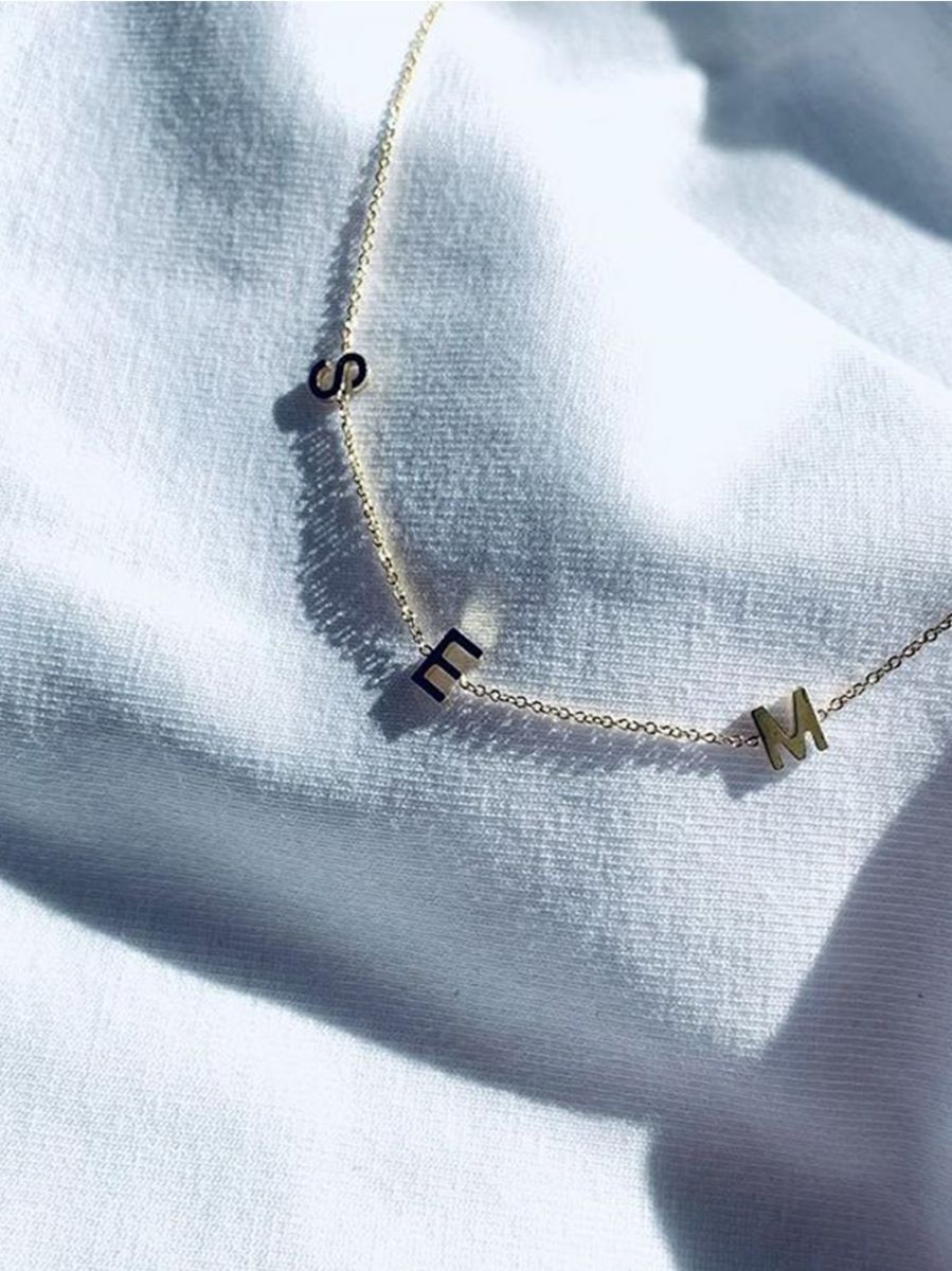 just franky ketting love letter necklace 3initials 2