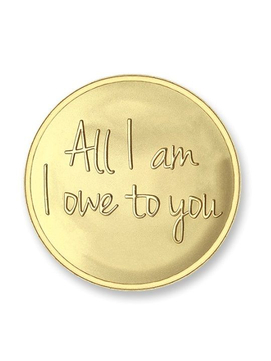 mi moneda munt rose owe to you gold plated