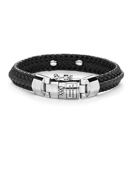 buddha to buddha nurul small leather black armband