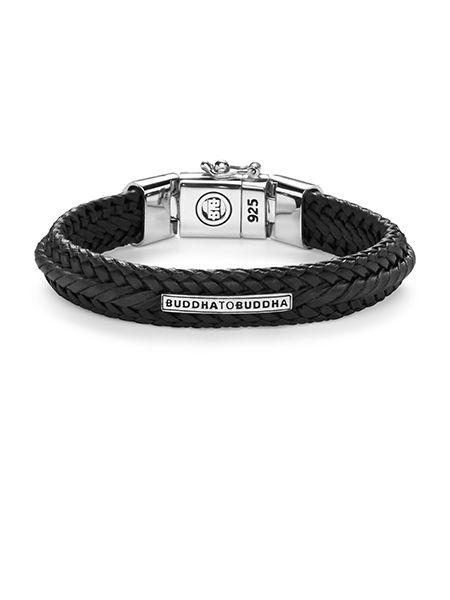 nurul small leather black armband