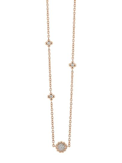 Palladio collier met diamant