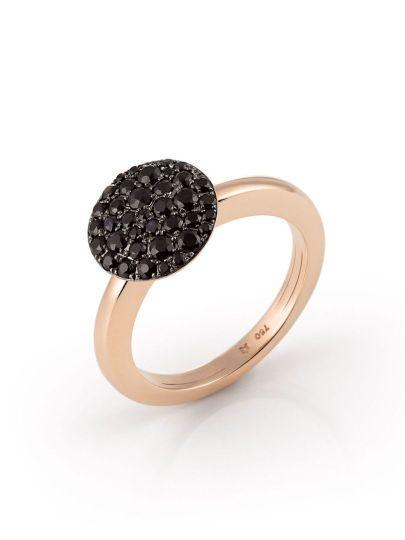 Palladio ring met zwarte saffier