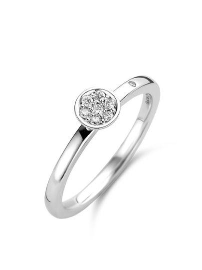 Ring rond met briljant
