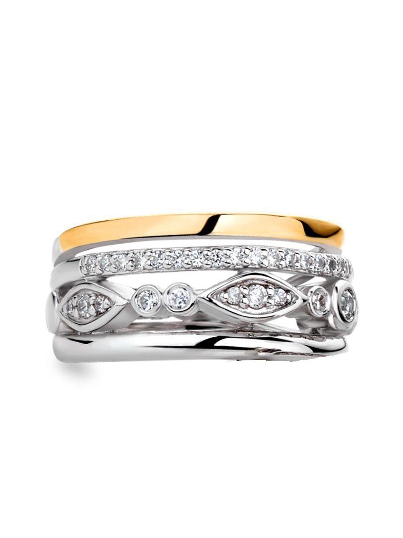 ring zilver met goud