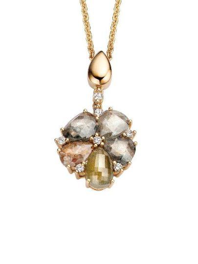 Roos bloemhanger diamant