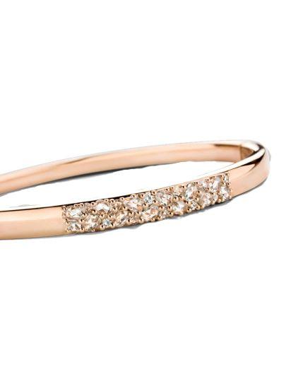 Roségouden armband met roos diamant