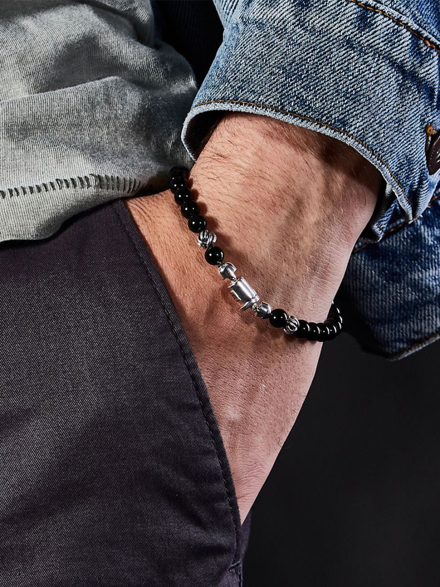 buddha to buddha spirit bead mini onyx armband
