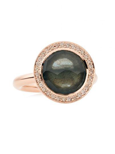 Sushi Ring Mosberyl & diamant