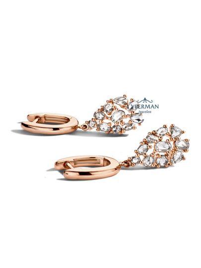 Taille Roos diamant oorbellen