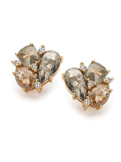 Taille Roos oorknoppen diamant