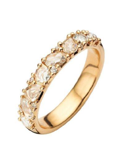 Taille Roos ring diamanten
