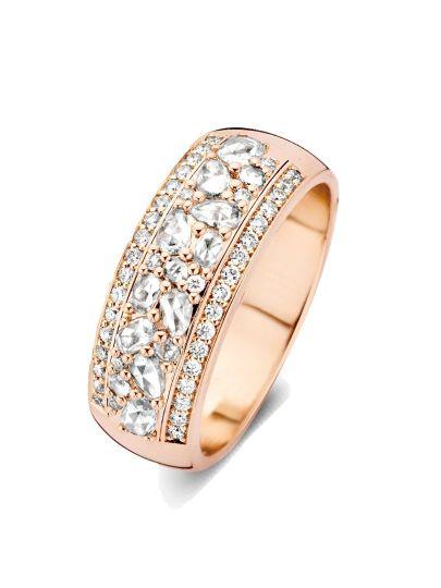 Taille roos ring met diamant