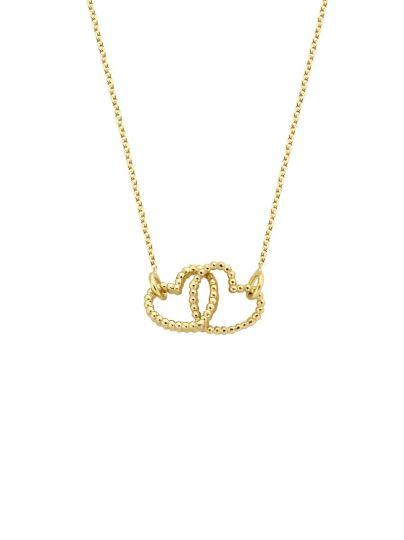 Vintage Double Open Heart Necklace