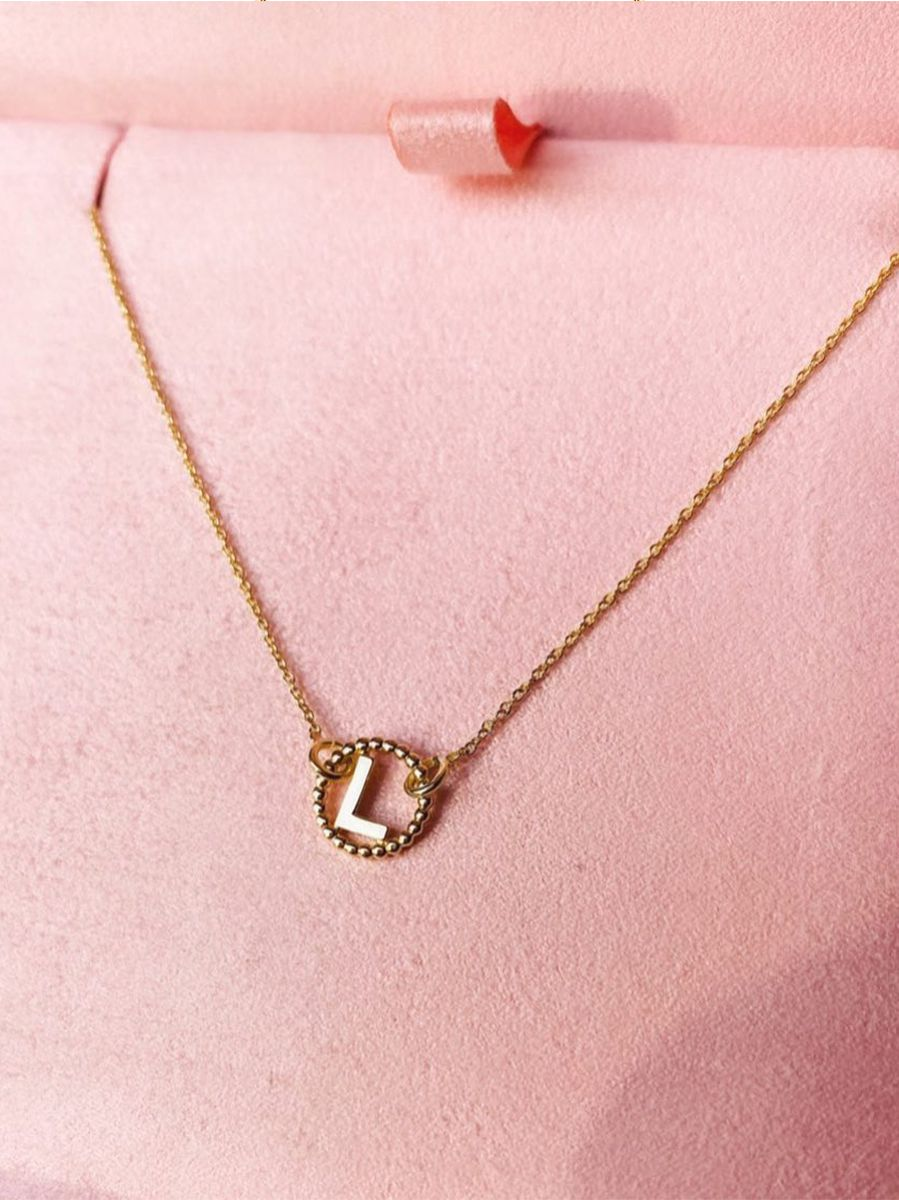 just franky vintage letter necklace 3