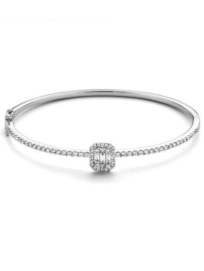 Witgouden armband met diamant 1,18crt.