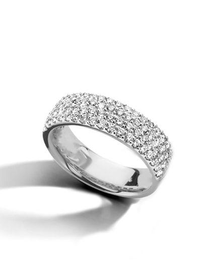 Witgouden Pavé Ring Briljant
