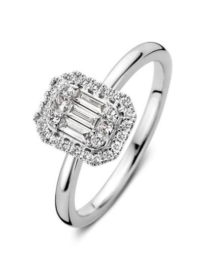 Witgouden ring met diamant 0,38crt.