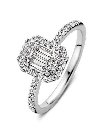 Witgouden ring met diamant 0,50crt.
