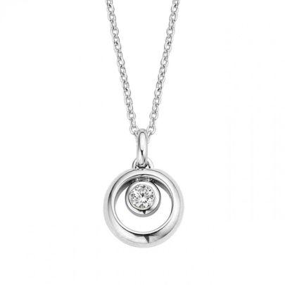 Zilveren collier met zirkonia